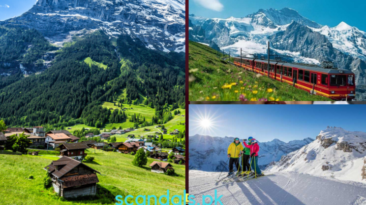 Summer in Grindelwald Mountain Resort, Jungfrau Region, Switzerland