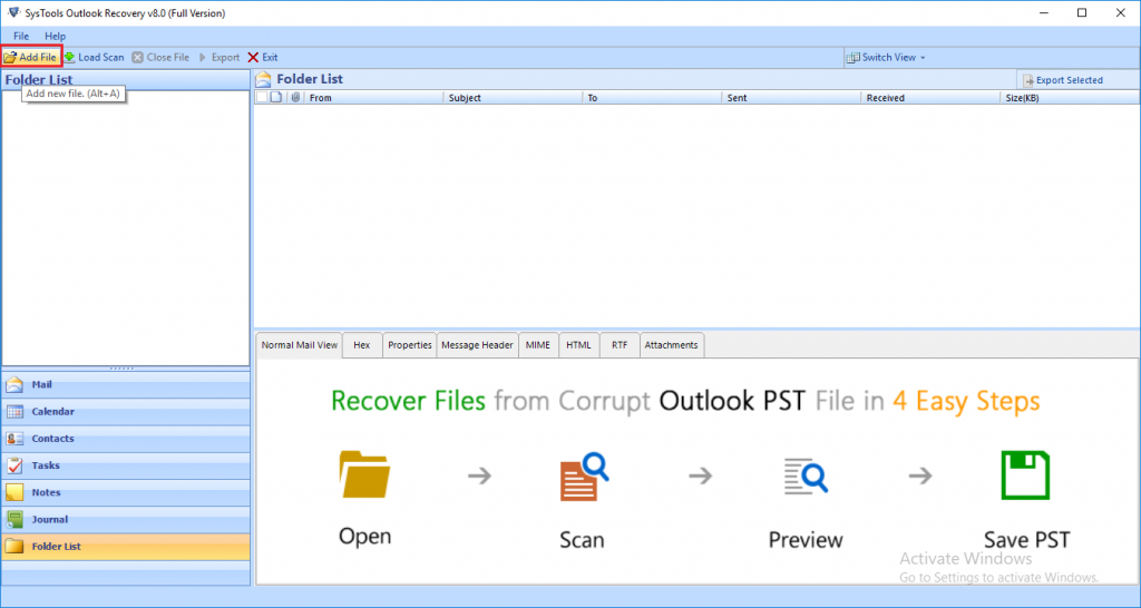 launch outlook recovery